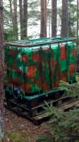 skradziono zbiorniki na wode 600 litrowe pomalowane